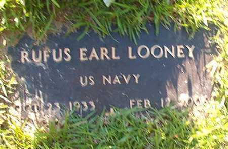 LOONEY (VETERAN), RUFUS EARL - Columbia County, Arkansas | RUFUS EARL LOONEY (VETERAN) - Arkansas Gravestone Photos