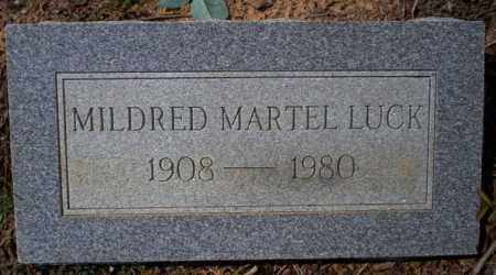 MARTEL LUCK, MILDRED - Columbia County, Arkansas | MILDRED MARTEL LUCK - Arkansas Gravestone Photos
