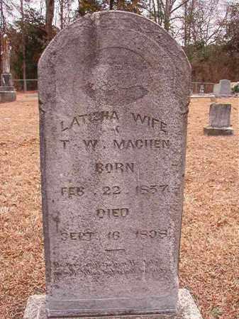 MACHEN, LATISHA - Columbia County, Arkansas | LATISHA MACHEN - Arkansas Gravestone Photos