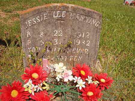 MANNING, JESSIE LEE - Columbia County, Arkansas | JESSIE LEE MANNING - Arkansas Gravestone Photos