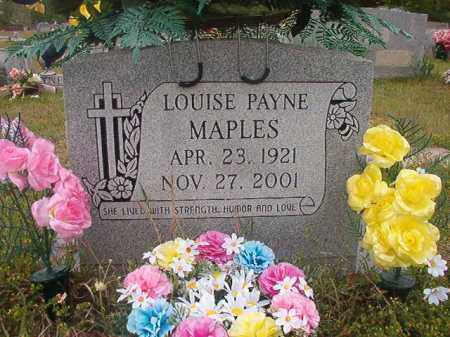 PAYNE MAPLES, LOUISE - Columbia County, Arkansas | LOUISE PAYNE MAPLES - Arkansas Gravestone Photos