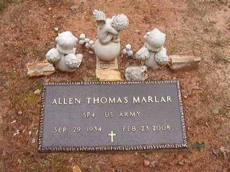 MARLAR (VETERAN), ALLEN THOMAS - Columbia County, Arkansas | ALLEN THOMAS MARLAR (VETERAN) - Arkansas Gravestone Photos