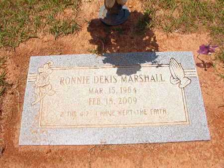 MARSHALL, RONNIE DEKIS - Columbia County, Arkansas | RONNIE DEKIS MARSHALL - Arkansas Gravestone Photos