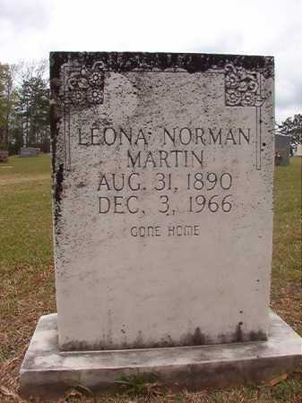 NORMAN MARTIN, LEONA - Columbia County, Arkansas | LEONA NORMAN MARTIN - Arkansas Gravestone Photos