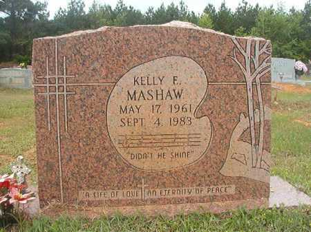 MASHAW, KELLY E - Columbia County, Arkansas | KELLY E MASHAW - Arkansas Gravestone Photos