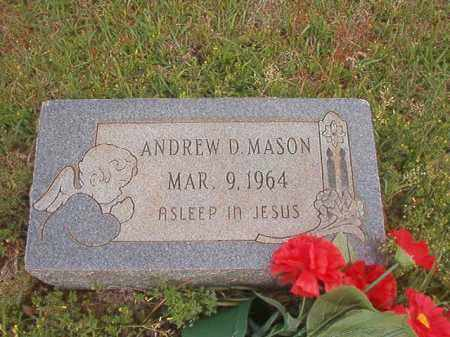 MASON, ANDREW D - Columbia County, Arkansas | ANDREW D MASON - Arkansas Gravestone Photos