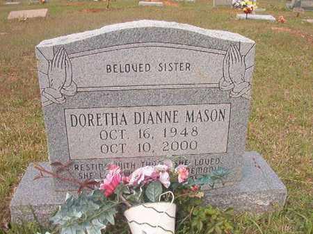 MASON, DORETHA DIANNE - Columbia County, Arkansas | DORETHA DIANNE MASON - Arkansas Gravestone Photos