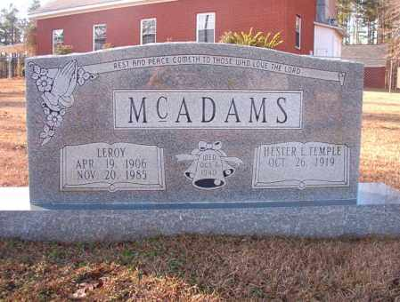 MCADAMS, LEROY - Columbia County, Arkansas | LEROY MCADAMS - Arkansas Gravestone Photos