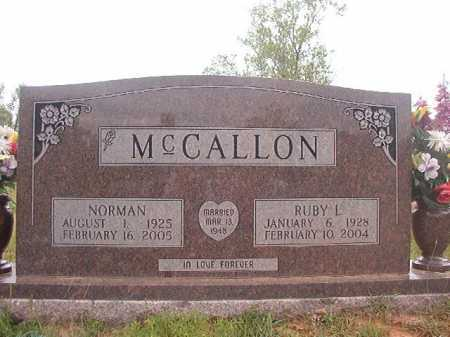 MCCALLON, NORMAN - Columbia County, Arkansas | NORMAN MCCALLON - Arkansas Gravestone Photos