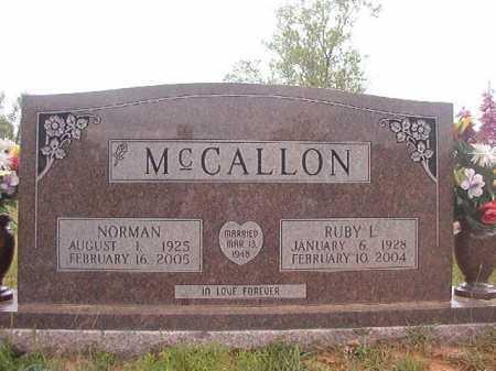 MCCALLON, NORMAN - Columbia County, Arkansas | NORMAN MCCALLON - Arkansas Gravestone Photos