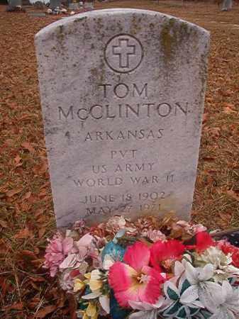 MCCLINTON (VETERAN WWII), TOM - Columbia County, Arkansas | TOM MCCLINTON (VETERAN WWII) - Arkansas Gravestone Photos
