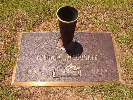MCCORKLE, VERONIA - Columbia County, Arkansas | VERONIA MCCORKLE - Arkansas Gravestone Photos