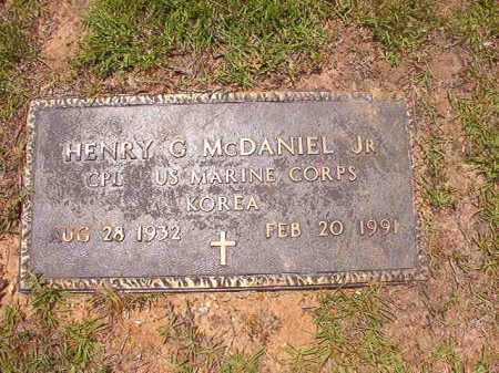 MCDANIEL, JR (VETERAN KOR), HENRY G - Columbia County, Arkansas | HENRY G MCDANIEL, JR (VETERAN KOR) - Arkansas Gravestone Photos
