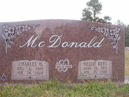 KENT MCDONALD, NELLIE - Columbia County, Arkansas | NELLIE KENT MCDONALD - Arkansas Gravestone Photos