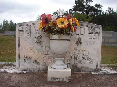 MCDONALD, DR, A J - Columbia County, Arkansas | A J MCDONALD, DR - Arkansas Gravestone Photos