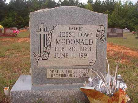 MCDONALD, JESSE LOWE - Columbia County, Arkansas | JESSE LOWE MCDONALD - Arkansas Gravestone Photos