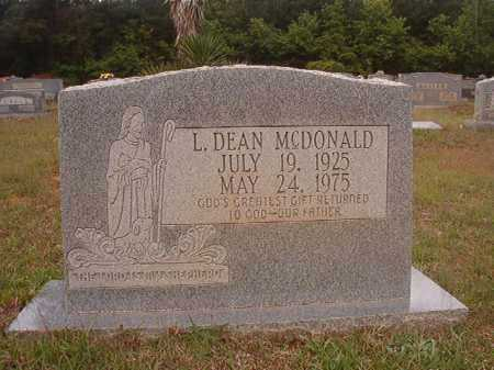 MCDONALD, L DEAN - Columbia County, Arkansas | L DEAN MCDONALD - Arkansas Gravestone Photos