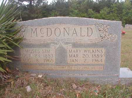 WILKINS MCDONALD, MARY - Columbia County, Arkansas | MARY WILKINS MCDONALD - Arkansas Gravestone Photos