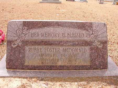 FOSTER MCDONALD, RUBY - Columbia County, Arkansas | RUBY FOSTER MCDONALD - Arkansas Gravestone Photos
