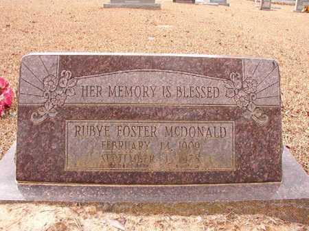 MCDONALD, RUBY - Columbia County, Arkansas | RUBY MCDONALD - Arkansas Gravestone Photos