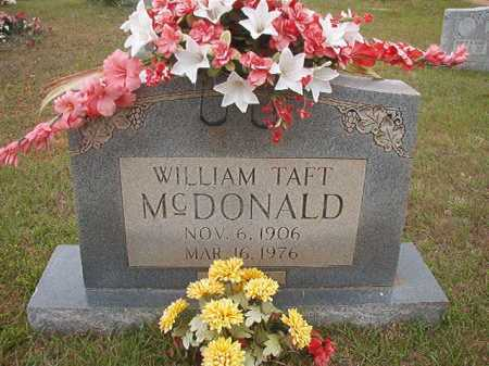 MCDONALD, WILLIAM TAFT - Columbia County, Arkansas | WILLIAM TAFT MCDONALD - Arkansas Gravestone Photos