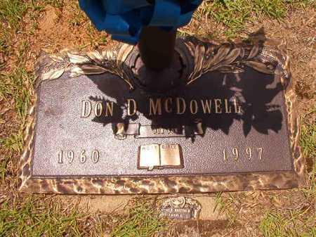 MCDOWELL, DON D - Columbia County, Arkansas | DON D MCDOWELL - Arkansas Gravestone Photos