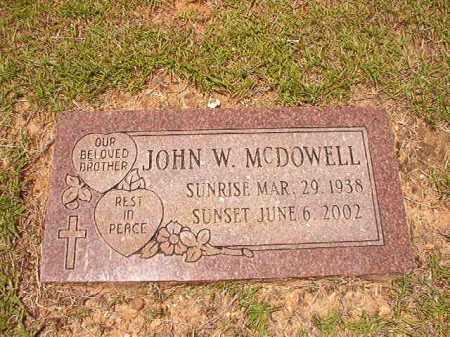 MCDOWELL, JOHN W - Columbia County, Arkansas | JOHN W MCDOWELL - Arkansas Gravestone Photos