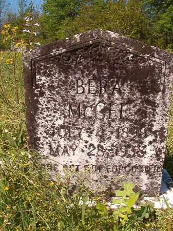 MCGEE, BERA - Columbia County, Arkansas | BERA MCGEE - Arkansas Gravestone Photos
