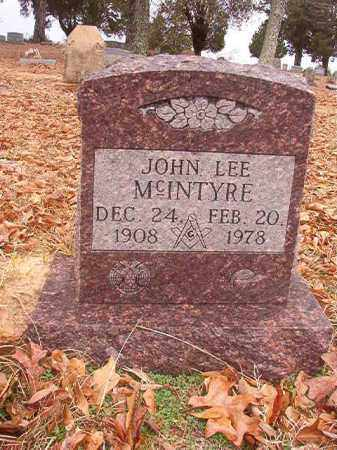 MCINTYRE, JOHN LEE - Columbia County, Arkansas | JOHN LEE MCINTYRE - Arkansas Gravestone Photos