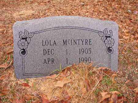 MCINTYRE, LOLA - Columbia County, Arkansas | LOLA MCINTYRE - Arkansas Gravestone Photos