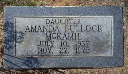 BULLOCK MCKAMIE, AMANDA - Columbia County, Arkansas | AMANDA BULLOCK MCKAMIE - Arkansas Gravestone Photos