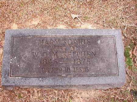 MCKEITHEN, MARY SOPHIE - Columbia County, Arkansas | MARY SOPHIE MCKEITHEN - Arkansas Gravestone Photos