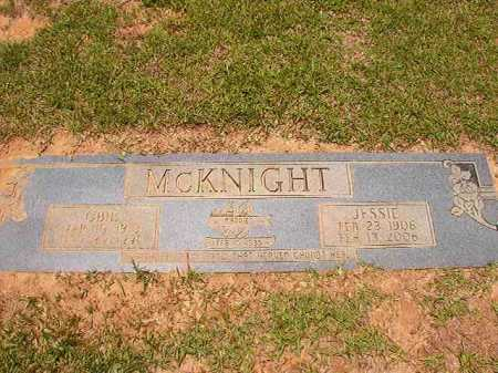 MCKNIGHT, JESSIE - Columbia County, Arkansas | JESSIE MCKNIGHT - Arkansas Gravestone Photos