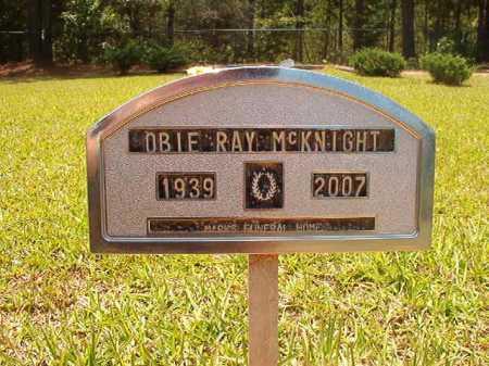 MCKNIGHT, OBIE RAY - Columbia County, Arkansas | OBIE RAY MCKNIGHT - Arkansas Gravestone Photos