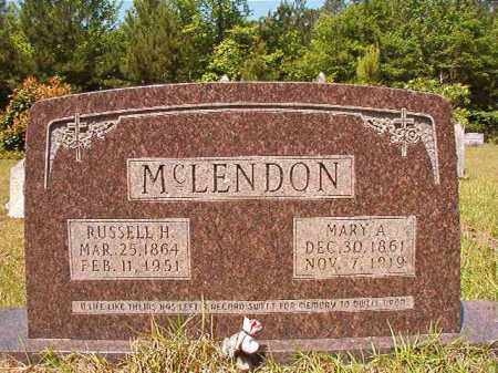 MCLENDON, RUSSELL H - Columbia County, Arkansas | RUSSELL H MCLENDON - Arkansas Gravestone Photos