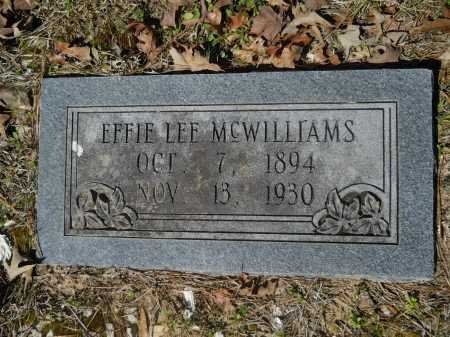 MCWILLIAMS, EFFIE LEE - Columbia County, Arkansas | EFFIE LEE MCWILLIAMS - Arkansas Gravestone Photos