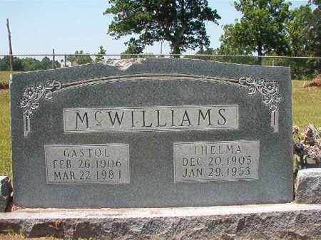 MCWILLIAMS, GASTOL - Columbia County, Arkansas | GASTOL MCWILLIAMS - Arkansas Gravestone Photos