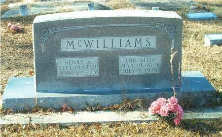 BEENE MCWILLIAMS, LOU ALLIE - Columbia County, Arkansas | LOU ALLIE BEENE MCWILLIAMS - Arkansas Gravestone Photos