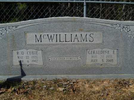 MCWILLIAMS, GERALDINE E - Columbia County, Arkansas | GERALDINE E MCWILLIAMS - Arkansas Gravestone Photos