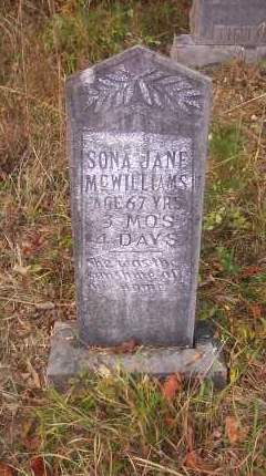"BEESON MCWILLIAMS, SARAH JANE ""SONA"" - Columbia County, Arkansas 