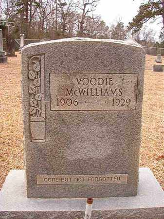 MCWILLIAMS, VOODIE - Columbia County, Arkansas | VOODIE MCWILLIAMS - Arkansas Gravestone Photos