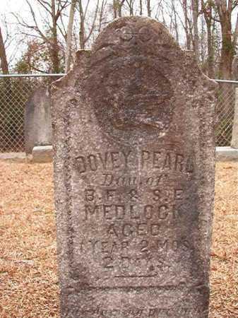 MEDLOCK, DOVEY PEARL - Columbia County, Arkansas | DOVEY PEARL MEDLOCK - Arkansas Gravestone Photos