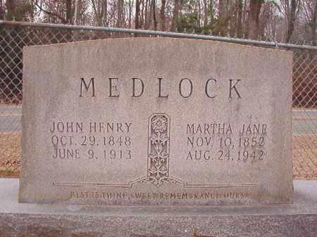 MEDLOCK, MARTHA JANE - Columbia County, Arkansas | MARTHA JANE MEDLOCK - Arkansas Gravestone Photos