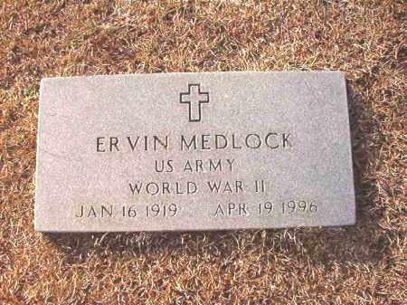 MEDLOCK (VETERAN WWII), ERVIN - Columbia County, Arkansas | ERVIN MEDLOCK (VETERAN WWII) - Arkansas Gravestone Photos