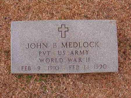 MEDLOCK (VETERAN WWII), JOHN B - Columbia County, Arkansas | JOHN B MEDLOCK (VETERAN WWII) - Arkansas Gravestone Photos