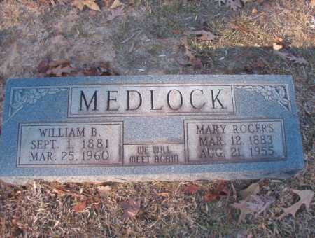 MEDLOCK, WILLIAM B - Columbia County, Arkansas | WILLIAM B MEDLOCK - Arkansas Gravestone Photos