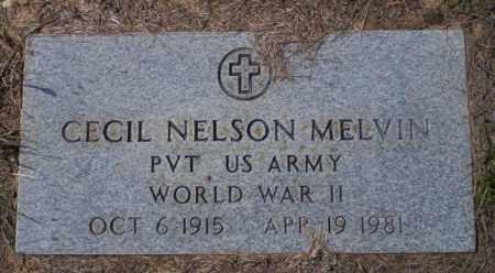 MELVIN  (VETERAN WWII), CECIL NELSON - Columbia County, Arkansas | CECIL NELSON MELVIN  (VETERAN WWII) - Arkansas Gravestone Photos