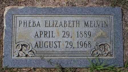 MELVIN, PHEBA ELIZABETH - Columbia County, Arkansas | PHEBA ELIZABETH MELVIN - Arkansas Gravestone Photos