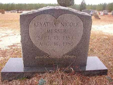 MESSER, KEYATHA NICOLE - Columbia County, Arkansas | KEYATHA NICOLE MESSER - Arkansas Gravestone Photos