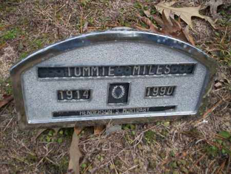 MILES, TOMMIE - Columbia County, Arkansas | TOMMIE MILES - Arkansas Gravestone Photos